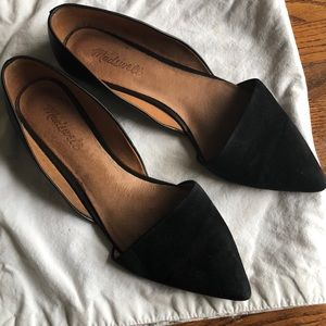 Madewell D'orsay suede and leather flats